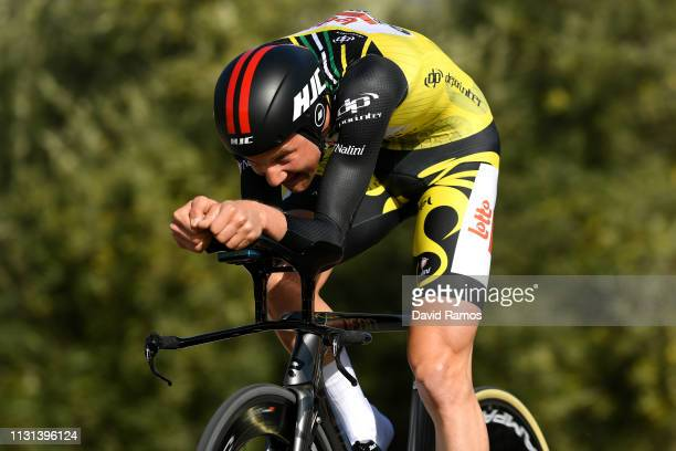 Tim Wellens of Belgium and Team Lotto Soudal / Yellow Leader Jersey / during the 65th Ruta del Sol 2019, Stage 3 a 16,3km a Individual Time Trial...