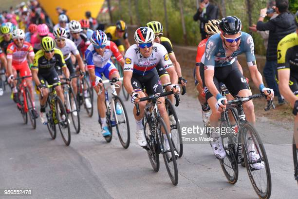 Tim Wellens of Belgium and Team Lotto Soudal / Zdenek Stybar of Czech Republic and Team Quick-Step Floors / Thibaut Pinot of France and Team...