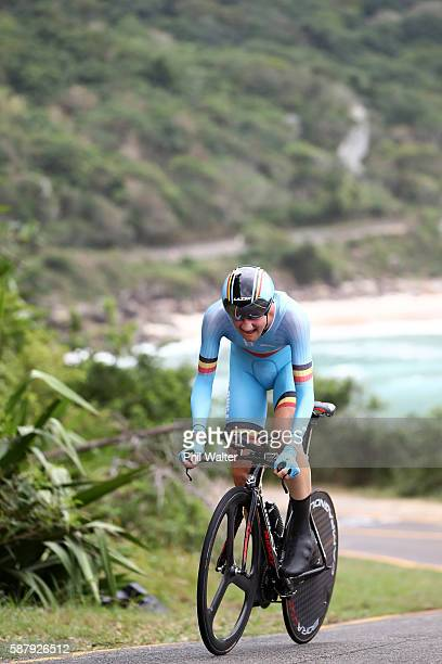 Tim Wellens of Belgium competes in the Cycling Road Men's Individual Time Trial on Day 5 of the Rio 2016 Olympic Games at Pontal on August 10, 2016...