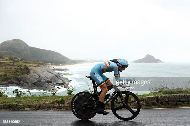 Tim Wellens of Blgium competes in the Cycling Road Men's Individual Time Trial on Day 5 of the Rio 2016 Olympic Games at Pontal on August 10, 2016 in...