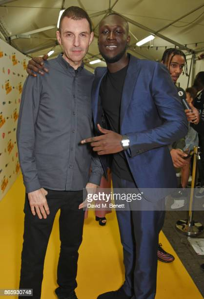 Tim Westwood and Stormzy attend The KA GRM Daily Rated Awards at The Roundhouse on October 24 2017 in London England