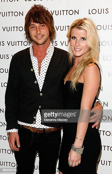 Tim Wheatley and Elke Lange arrive for the official opening of the new Louis Vuitton store at the Chadstone Shopping Centre on November 24, 2009 in...