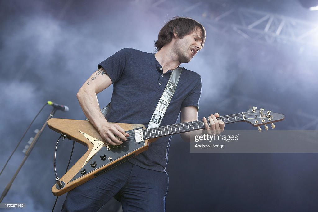 Tim Wheeler of Ash performs on stage on Day 2 of Kendal Calling Festival at Lowther Deer Park on July 27, 2013 in Kendal, England.