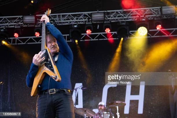 Tim Wheeler of Ash performs on the King Tut's Stage on the third day of TRNSMT Festival 2021 on September 12, 2021 in Glasgow, Scotland.