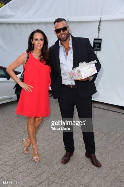 Tim Wiese and his wife Grit Wiese attend the 'Michalides Zahn Werder Klinik' Opening on August 23 2017 in Bremen Germany