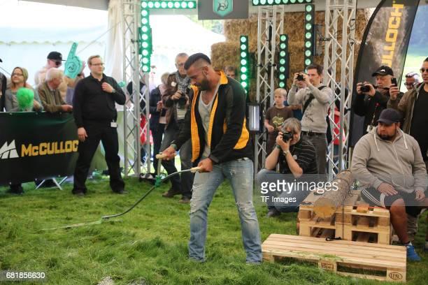 Tim Wiese attend the 'Duell der Maschinen' at Gut Schiff on May 10 2017 in Bergisch Gladbach Germany