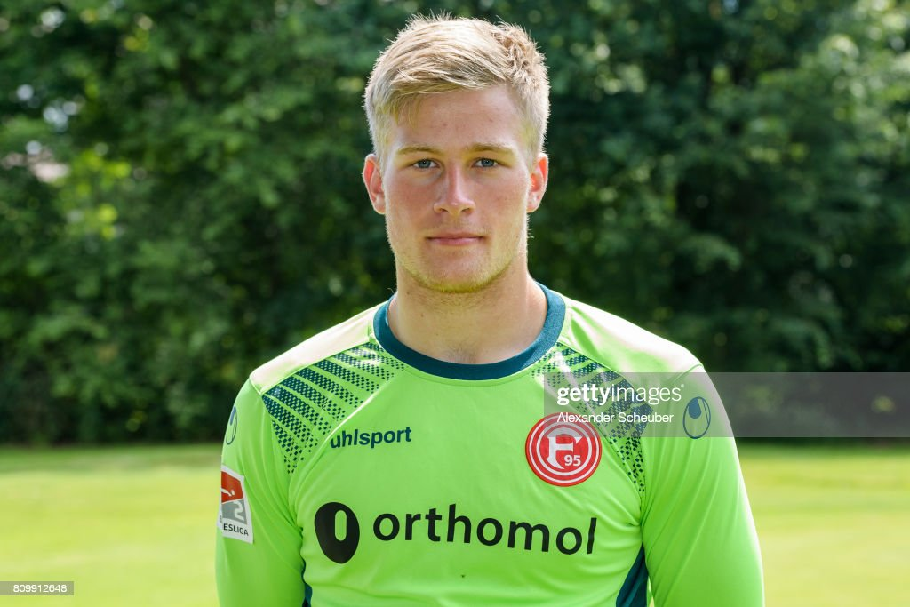 Tim Wiesner of Fortuna Duesseldorf poses during the team presentation at on July 6, 2017 in Duesseldorf, Germany.