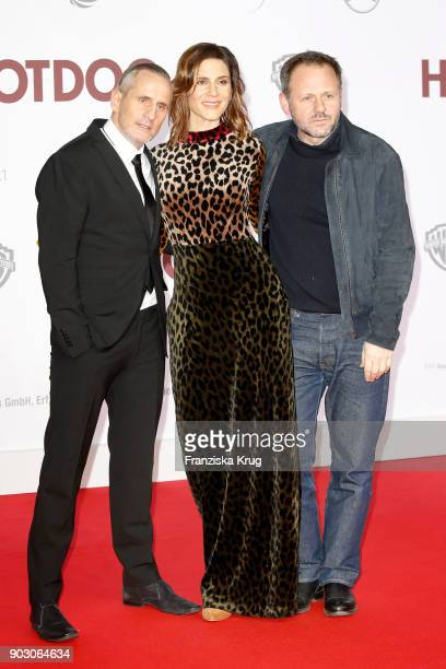 Tim Wilde and Christina Hecke attend the 'Hot Dog' Premiere at CineStar on January 9 2018 in Berlin Germany