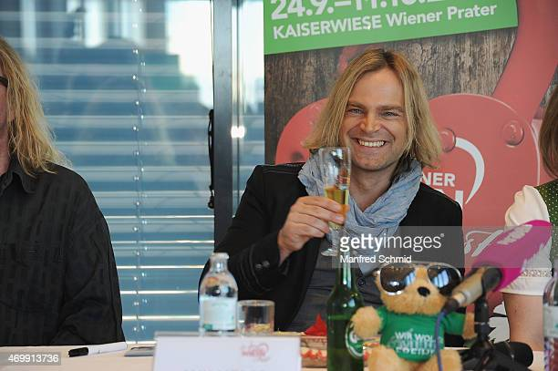Tim Wilhelm of Muenchener Freiheit attends the Vienna Wiesn 2015 press conference on April 16, 2015 in Vienna, Austria.