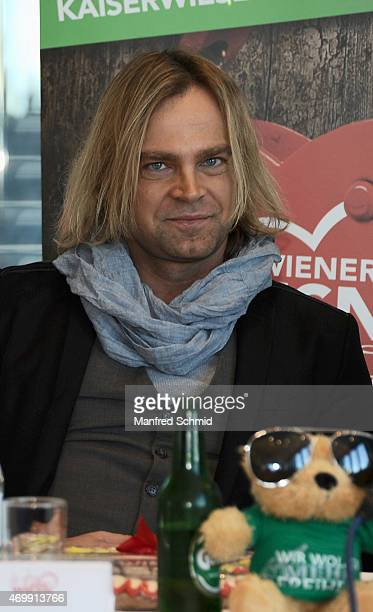 Tim Wilhelm of Muenchener Freiheit attends the Vienna Wiesn 2015 press conference on April 16 2015 in Vienna Austria