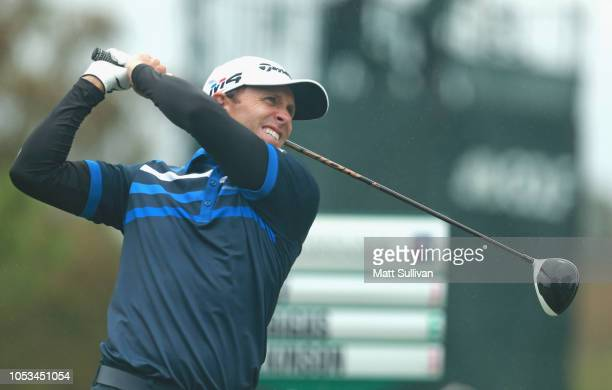 Tim Wilkinson of New Zealand watches his tee shot on the sixth hole during the first round of the Sanderson Farms Championship at the Country Club of...