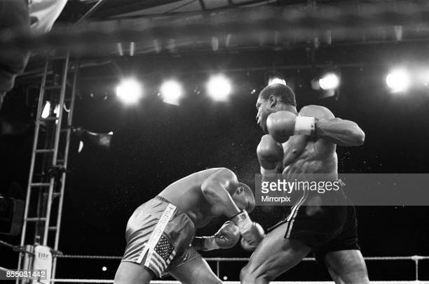 Tim Witherspoon vs Frank Bruno at Wembley Stadium this was Witherspoon's first defence of his title in which he successfully defended with a late TKO...