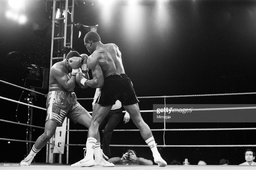 Tim Witherspoon vs. Frank Bruno, WBA Heavyweight Title fight 1986 : Fotografia de notícias