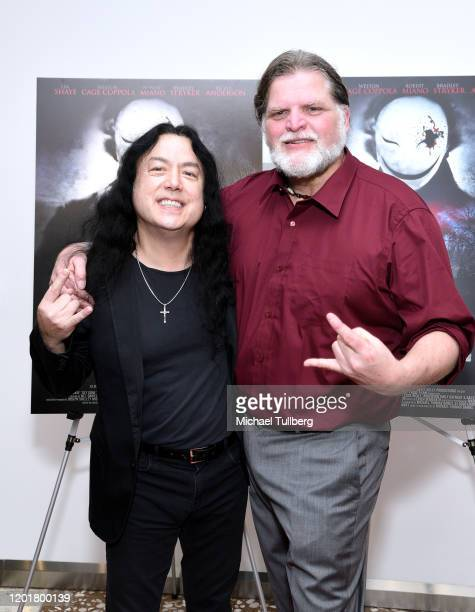 Tim Yasui and Michael Thomas Daniel attend the premiere of Get Gone at Arena Cinelounge on January 24 2020 in Hollywood California
