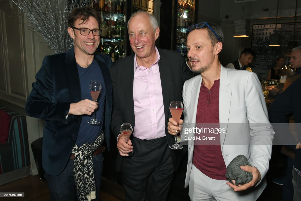 Tim Yeo (L) and Jonathan Yeo attend a private view after party for new Royal Academy Of Arts exhibition 'From Life' hosted by artist Jonathan Yeo at Brown's Hotel on December 7, 2017 in London, England.
