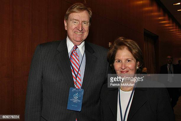 Tim Zagat and Nina Zagat attend CONVERSATIONS ON THE CIRCLE With Senator Barack Obama And Dick Parsons at Time Warner Headquarters on July 24 2007 in...