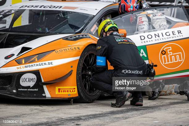 Tim Zimmermann from Germany, Steijn Schothorst from Nederland and GRT Grasser Racing Team during race 1 at the ADAC GT Masters Nuerburgring -...