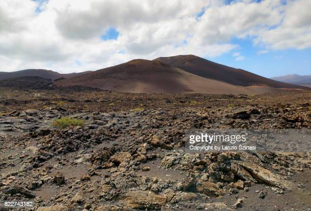 timanfaya national park - lava plain stock pictures, royalty-free photos & images