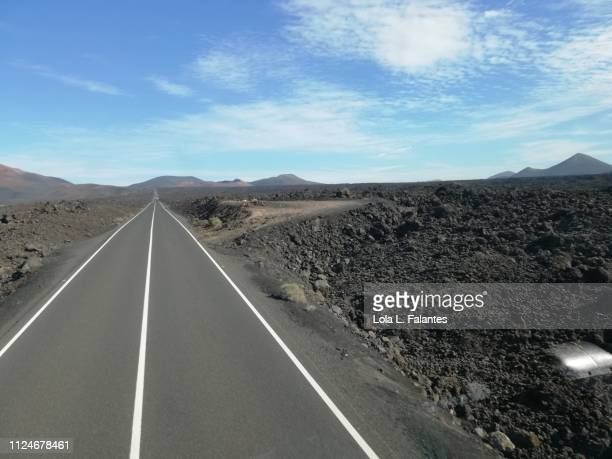 Timanfaya's road