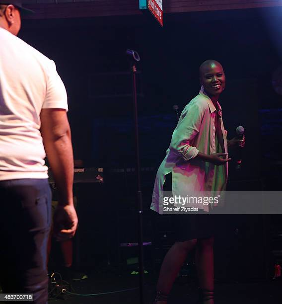 Timbaland and V Bozeman at Stage 48 on August 11 2015 in New York City