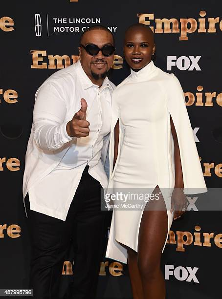 Timbaland and Veronika Bozeman attend the 'Empire' series season 2 New York Premiere at Carnegie Hall on September 12 2015 in New York City