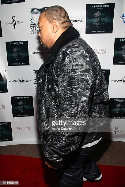 Timbaland attends Timbaland's 'Shock Value II' album release party at Hudson Terrace on December 8 2009 in New York City