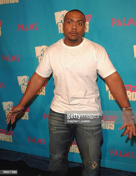 """Timbaland during MTV's """"TRL"""" announcing the nominations for the 2007 MTV Video Music Awards at MTV Studios in Times Square on August 7, 2007 in New..."""