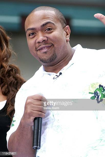 Timbaland during Nelly Furtado and Timbaland Perform on the NBC's 'The Today Show' June 22 2006 at NBC in New York City New York United States