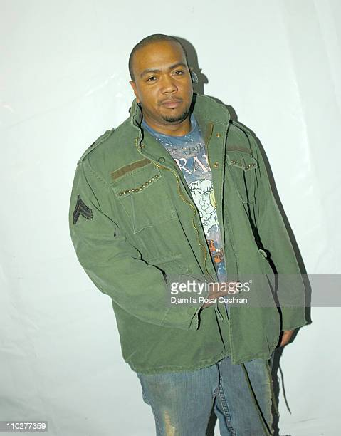 Timbaland during Olympus Fashion Week Fall 2006 Seen Around Tent Day 5 at Bryant Park in New York City New York United States