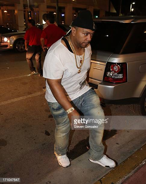 Timbaland is sighted at Prime 112 Steakhouse on June 20 2013 in Miami Beach Florida