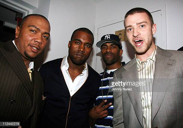 Timbaland Kanye West DJ Clue and Justin Timberlake *EXCLUSIVE*
