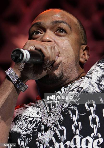 Timbaland performs during the Y100 Jingle Ball concert December 15 2007 at the Bank Atlantic Center in Sunrise Florida
