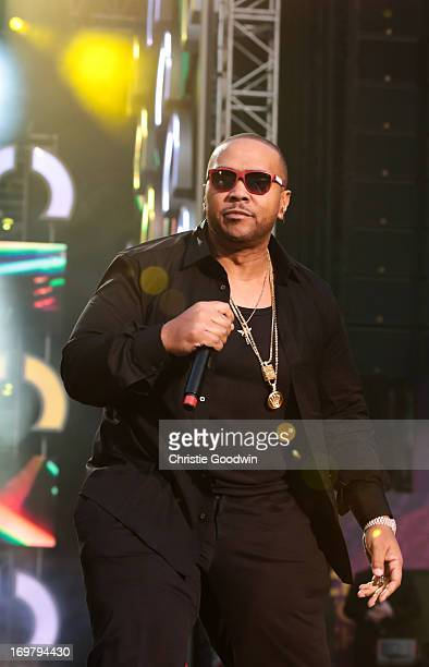 Timbaland performs on stage at The Sound Of Change Live Concert as part of Chime For Change at Twickenham Stadium on June 1 2013 in London England