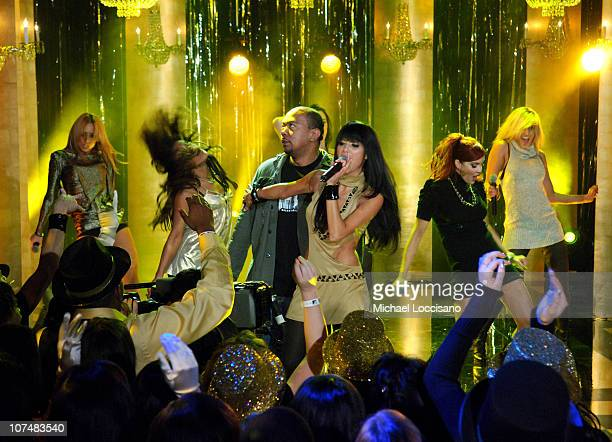 Timbaland The Pussycat Dolls during MTV Goes Gold New Year's Eve 2007 Gwen Stefani Nas and Pussycat Dolls MTV New Year's December 13 2006 at MTV...