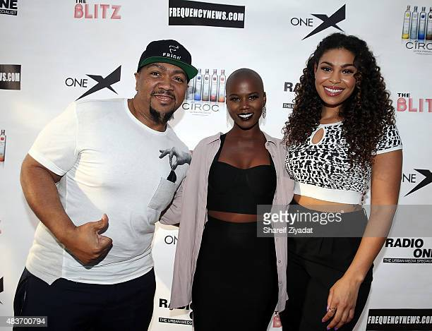 Timbaland V Bozeman and Jordin Sparks at Stage 48 on August 11 2015 in New York City