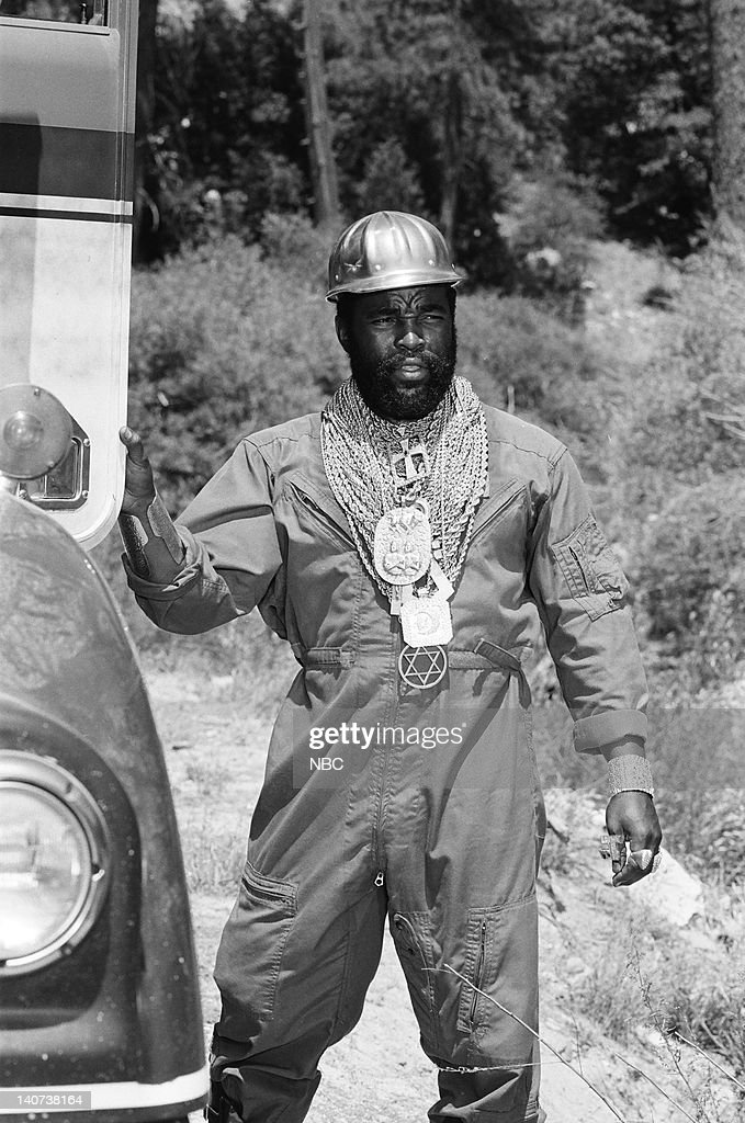 TEAM -- 'Timber!' Episode 5 -- Pictured: Mr. T as B.A. Baracus -- Photo by: Gary Null/NBCU Photo Bank