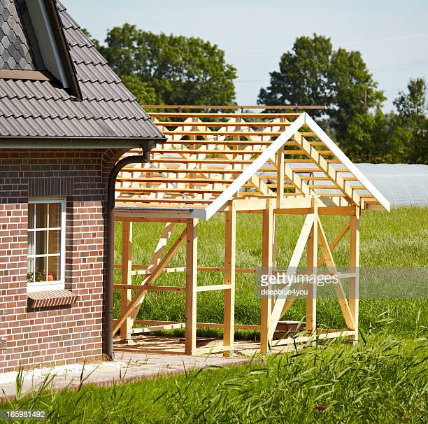 timber frame construction - shed stock pictures, royalty-free photos & images