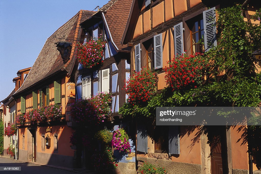 Brilliant Timber Framed Houses In Niedermorschwihr Alsace France Stock Beutiful Home Inspiration Papxelindsey Bellcom