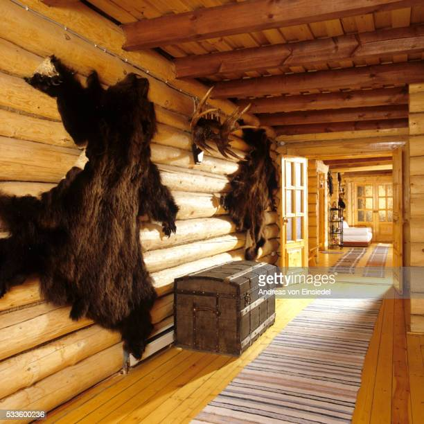 Timber house in Nothern Russia