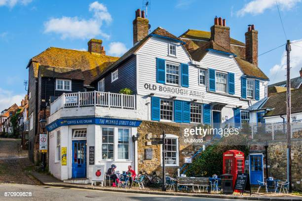 timberclad buildings in rye, east sussex, uk - rye stock photos and pictures