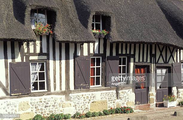 Timbered-house exterior, Normandy, France