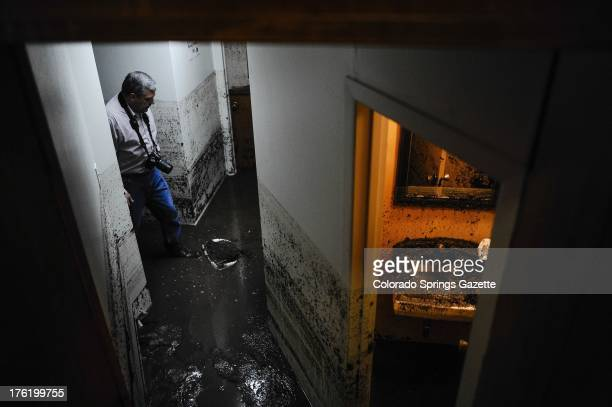 Timberline Baptist Church Pastor Dan Parton walks through the basement of his church off Canon Avenue in Manitou Springs Colorado Saturday August 10...