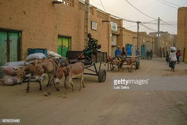 timbuktu, street scene - dafos stock photos and pictures