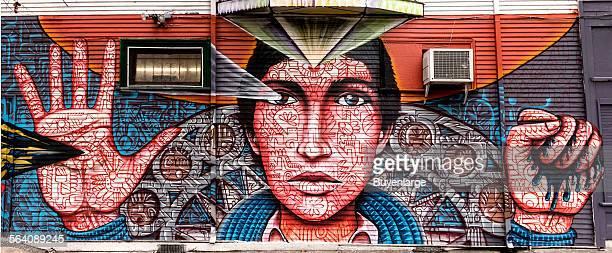 Time 2 a mural by Shaun Burner in Sacramento California