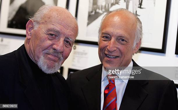 Time and Life Israel's awardwinning photographer David Rubinger and Spencer M Partrich are seen at Eretz Israel The Birth Of A Nation Private View a...