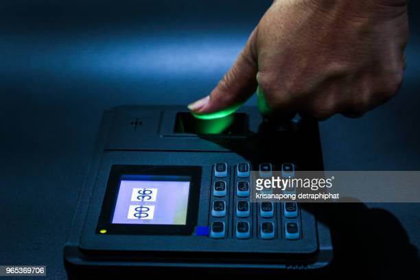 time attendance,fingerprint scanning technology, - biometrics stock pictures, royalty-free photos & images
