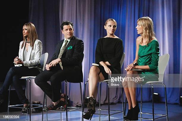 """Time Capsule"""" Episode 104 -- Pictured: Judges Iman, Isaac Mizrahi, Laura Brown, Anja Rubik"""