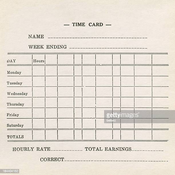 Time Card Stock Photos And Pictures  Getty Images