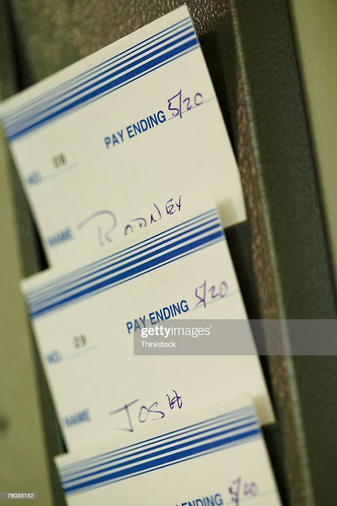 Time cards : Stock Photo