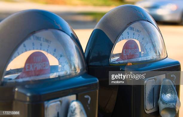 time expired - parking meter stock photos and pictures